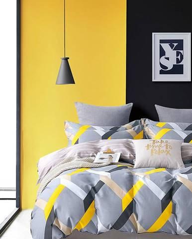 Bavlnená saténová posteľná bielizeň ALBS-01258B 140X200