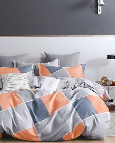 Bavlnená saténová posteľná bielizeň ALBS-01259B 200X220