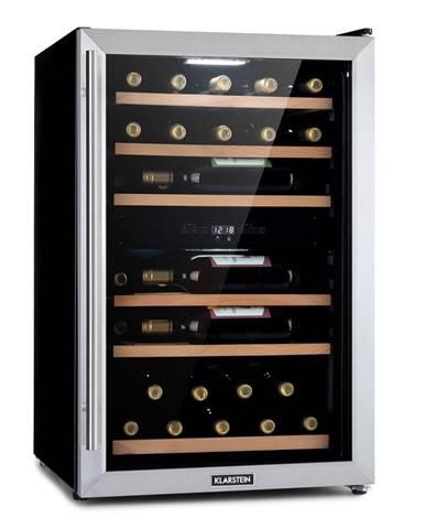 Klarstein Vinamour 37 Duo, chladnička na víno, 2 chladiace zóny, 112 litrov, 37 fliaš