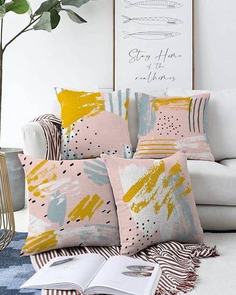 Minimalist Cushion Covers Súprava 4 obliečok na vankúše Minimalist Cushion Covers Ive, 55 x 55 cm