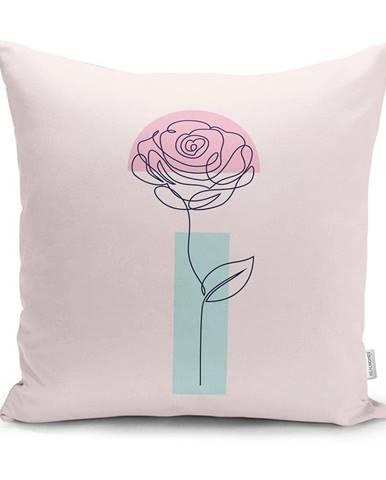 Obliečka na vankúš Minimalist Cushion Covers Drawing Flower, 45 x 45 cm