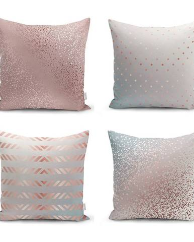 Súprava 4 obliečok na vankúše Minimalist Cushion Covers All About Pastel, 45 x 45 cm