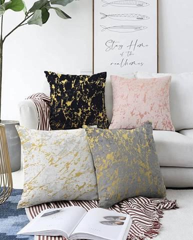Súprava 4 obliečok na vankúše Minimalist Cushion Covers Artistry, 55 x 55 cm