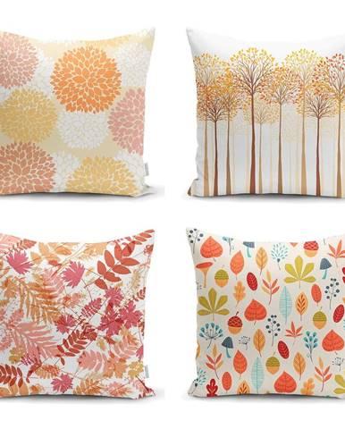 Súprava 4 obliečok na vankúše Minimalist Cushion Covers Autumn Design, 45 x 45 cm