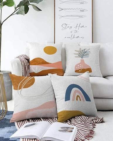 Súprava 4 obliečok na vankúše Minimalist Cushion Covers Desert, 55 x 55 cm