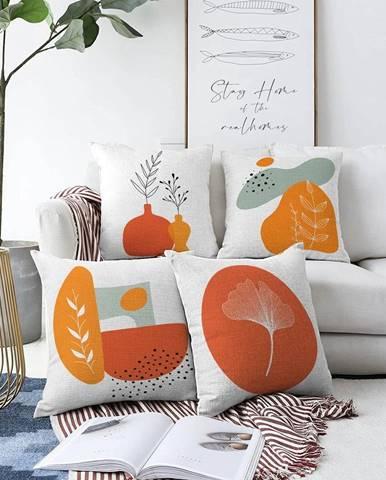 Súprava 4 obliečok na vankúše Minimalist Cushion Covers Glam, 55 x 55 cm