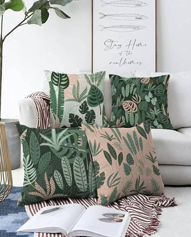 Súprava 4 obliečok na vankúše Minimalist Cushion Covers In the Jungle, 55 x 55 cm