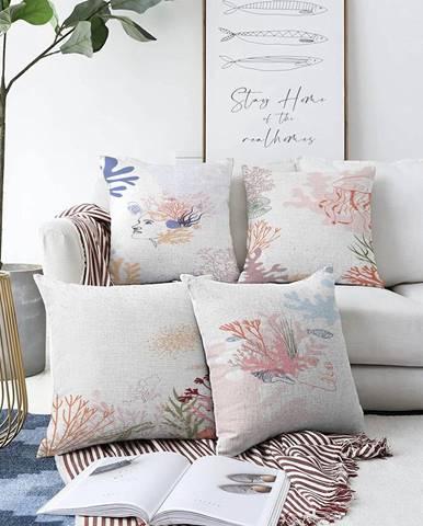 Súprava 4 obliečok na vankúše Minimalist Cushion Covers Magical Ocean, 55 x 55 cm
