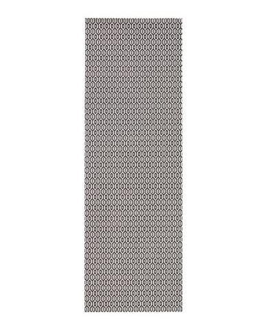 Čierno-biely vonkajší koberec Bougari Coin, 80 x 200 cm