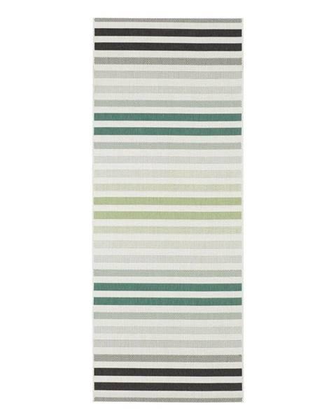 Bougari Zeleno-sivý vonkajší koberec Bougari Paros, 80 x 200 cm