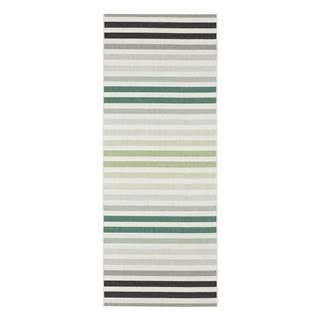 Zeleno-sivý vonkajší koberec Bougari Paros, 80 x 200 cm