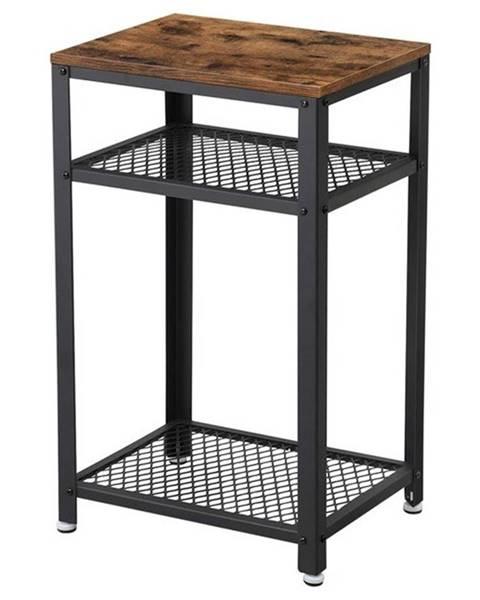 Sconto Prístavný stolík RAUMO čierna/hnedá