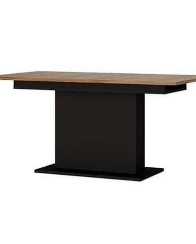 Jedálenský stôl BROLO dub/čierna