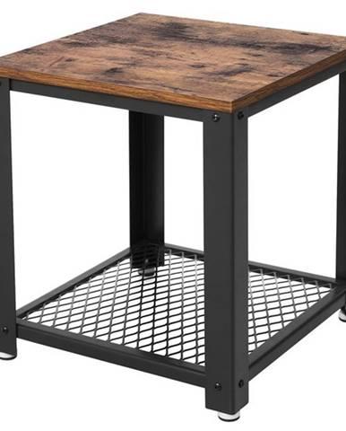 Prístavný stolík HANKO čierna/prírodná
