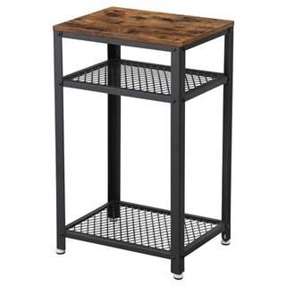 Prístavný stolík RAUMO čierna/hnedá
