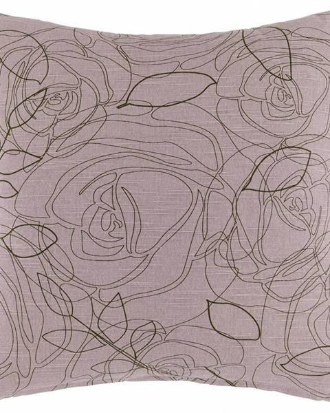 Möbelix Dekoračný Vankúš Rosalia, 45/45cm, Ružová