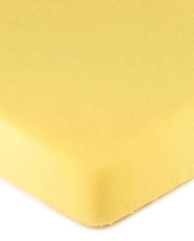 4Home jersey prestieradlo žltá, 180 x 200 cm