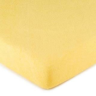 4Home froté prestieradlo žltá, 180 x 200 cm