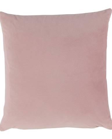 Vankúš zamatová látka pudrová ružová 45x45 ALITA TYP 2