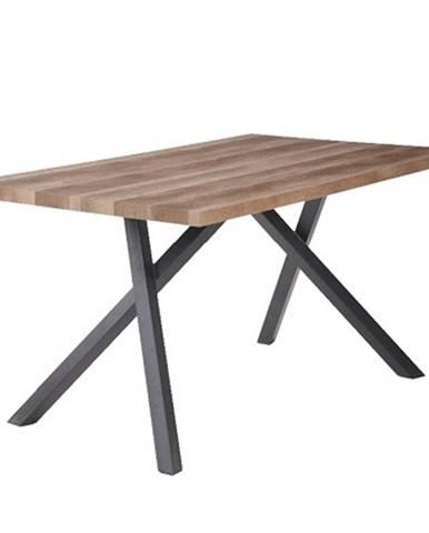 Jedálenský stôl svetlá slivka/čierna GURDUN poškodený tovar