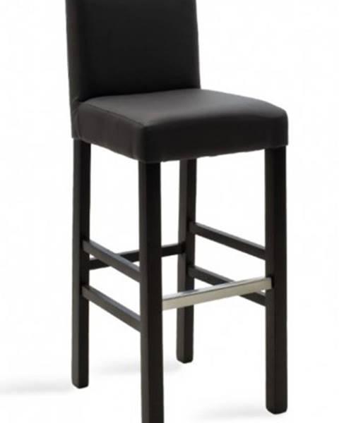 OKAY nábytok Barová stolička Dasha wenge, sivá