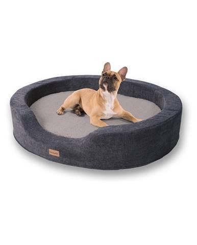 Brunolie Lotte, pelech pre psy, vankúš pre psy, prateľný, ortopedický, protišmykový, priedušná pamäťová pena, veľkosť L (100 x 20 x 80 cm)