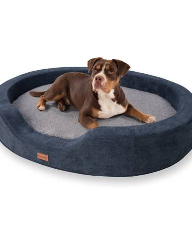 Brunolie Lotte, pelech pre psy, vankúš pre psy, prateľný, ortopedický, protišmykový, priedušná pamäťová pena, veľkosť XL (120 x 20 x 100 cm)