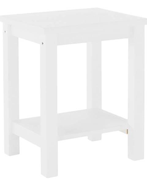 Kondela Nočný stolík masív/biela FOSIL poškodený tovar