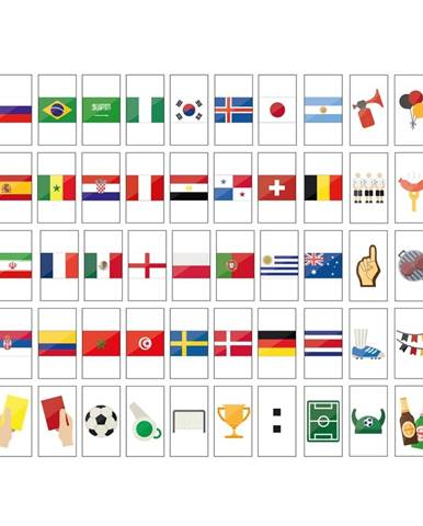 BLOCKBUSTER Set symbolov majstrov světa 50 ks