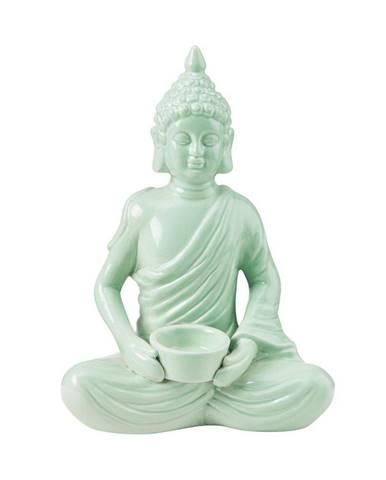 BUDDHA Svietnik na čajovú sviečku Buddha 28,5 cm