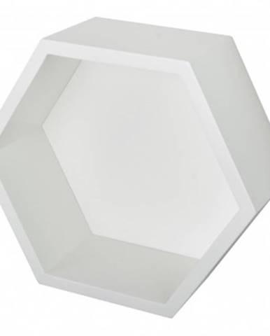 Nástenná polička Hegagon, biela%