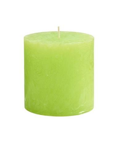 RUSTIC Sviečka 10 cm - sv. zelená