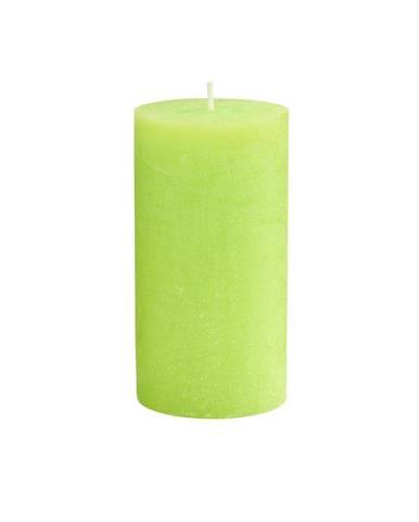 RUSTIC Sviečka 13 cm - sv. zelená