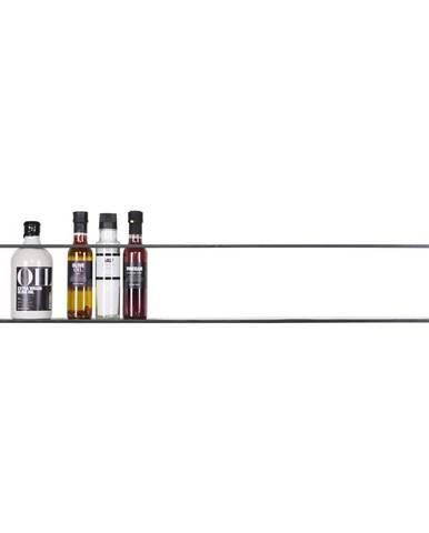 Čierna polica WOOOD Meert, dĺžka 100 cm