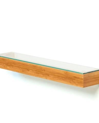 Bambusová polička do kúpeľne Bamboo Wireworks, dĺžka 55cm