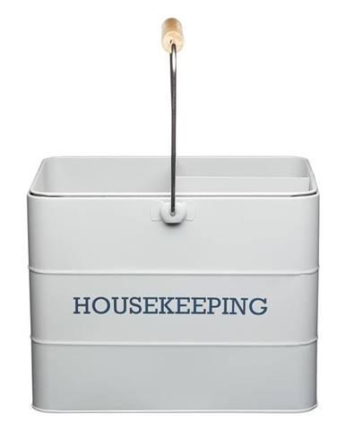 Sivý stojan na čistiace prostriedky Kitchen Craft Living Nostalgia