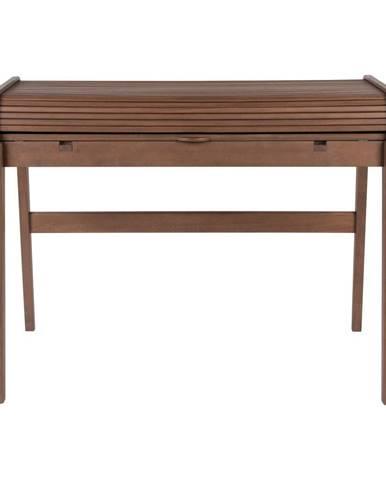 Hnedý písací stôl s výsuvnou doskou Zuiver Barbier