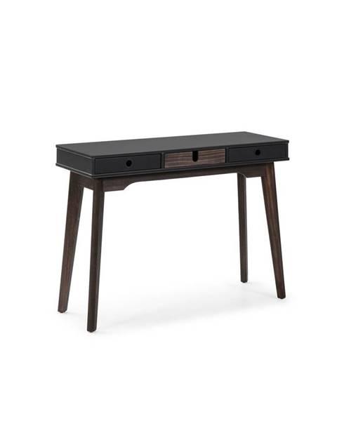 Marckeric Sivý konzolový stolík s nohami z borovicového dreva Marckeric Kiara