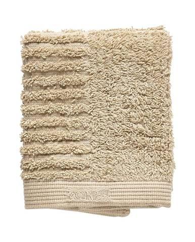 Tmavobéžový bavlnený uterák na tvár Zone Classic, 30 x 30 cm