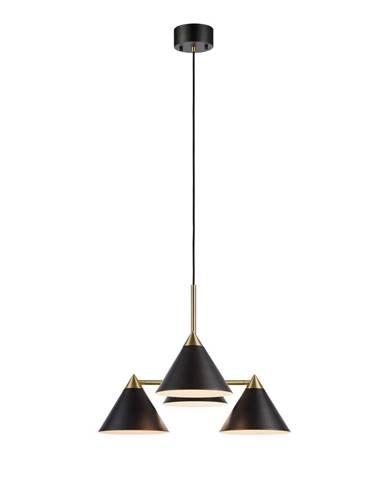 Čierne štvorramenné závesné svietidlo Markslöjd Klint