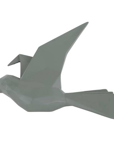 Zelený nástenný vešiak v tvare vtáčika PT LIVING, šírka 25 cm