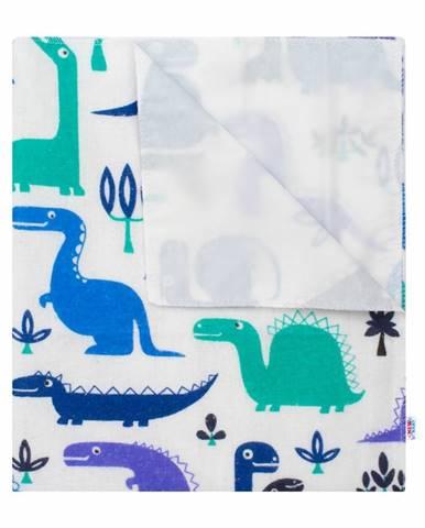 New Baby Nepremokavá flanelová podložka Dinosaurus, 57 x 47 cm