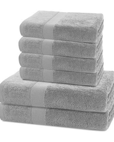 DecoKing Sada uterákov a osušiek Marina sivá, 4 ks 50 x 100 cm, 2 ks 70 x 140 cm