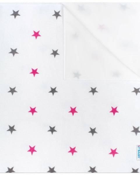 Topvet New Baby Nepremokavá flanelová podložka Hviezdičky  ružová, 57 x 47 cm