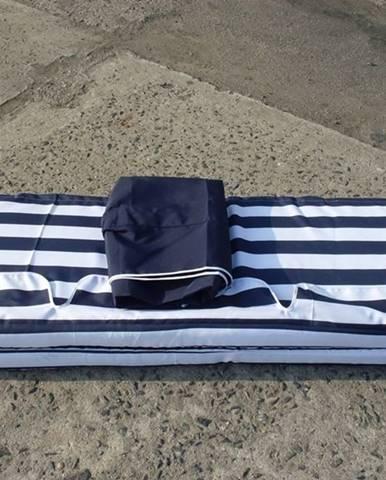 ArtRoja Strieška + podušky k hojdačke De Luxe modro-biela