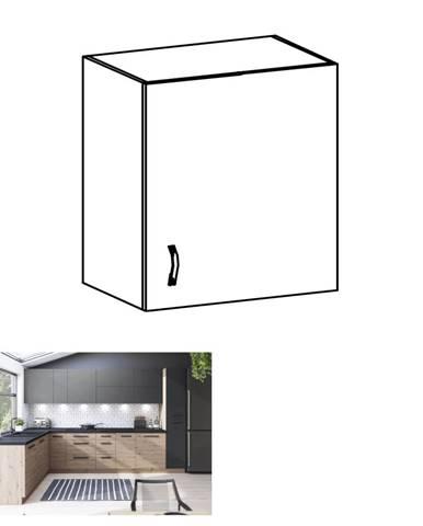 Horná skrinka dub artisan/sivý mat pravá LANGEN G60G