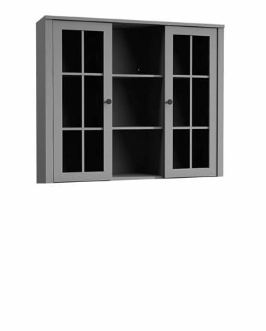 Nadstavec na komodu W2D vitrína sivá PROVANCE
