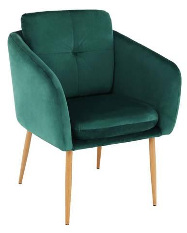 Dizajnové kreslo smaragdová Velvet látka AVETA