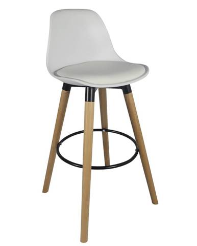 Barová stolička biela/buk EVANS rozbalený tovar