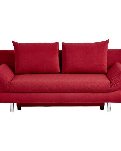 Xora Xora ROZKLADACIA POHOVKA, textil, červená - červená
